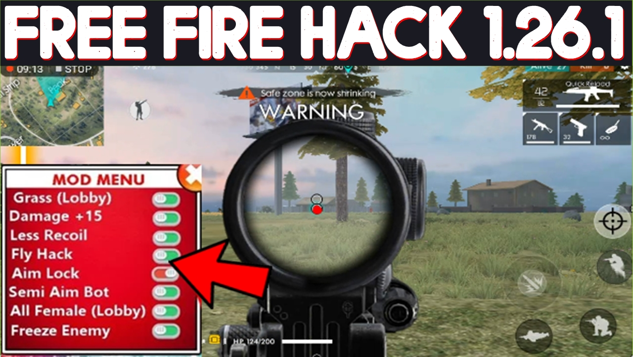Garena Free Fire Hack Mod Apk 1 26 1 (Auto Aim + App Data